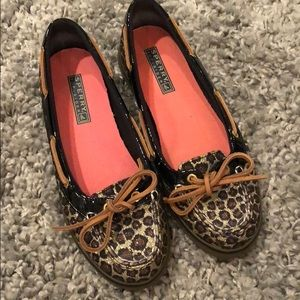 Sperry Top-Slider - Leopard Print and Black